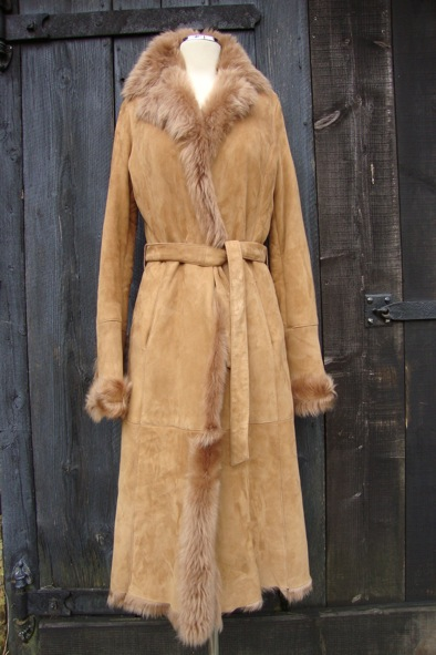 Joseph honey-blonde shearling coat
