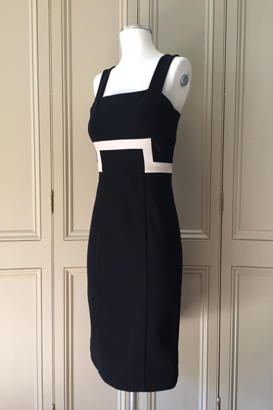 "Diane Von Furstenberg ""Tai"" monochrome bodycon dress"