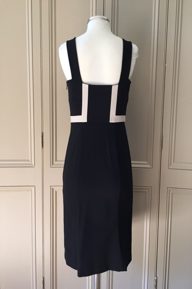 DVF Tai monochrome bodycon dress