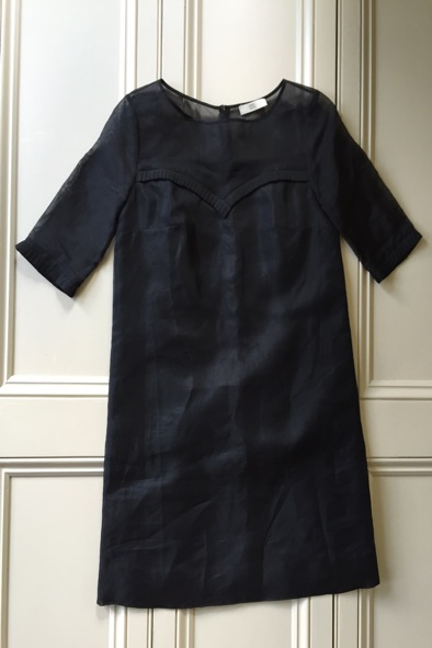 Orla Kiely black silk organza dress