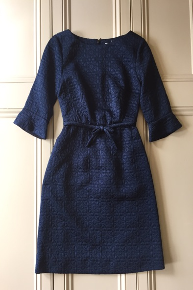 Orla Kiely navy quilted dress
