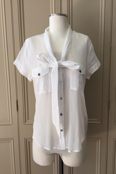 Burberry blouse with tie