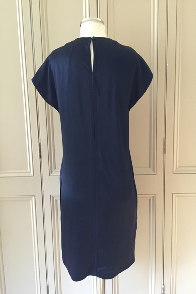 Made In Heaven navy hammered silk Redmond dress