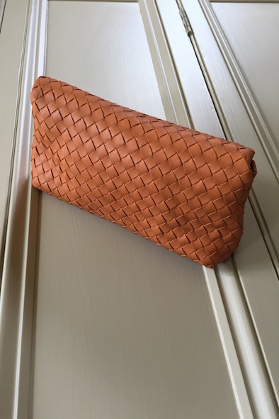 Bottega Veneta nappa woven clutch bag