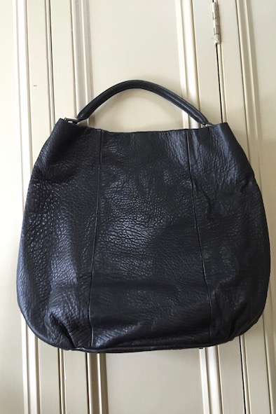 Anya Hindmarsh black leather Lacing hobo bag