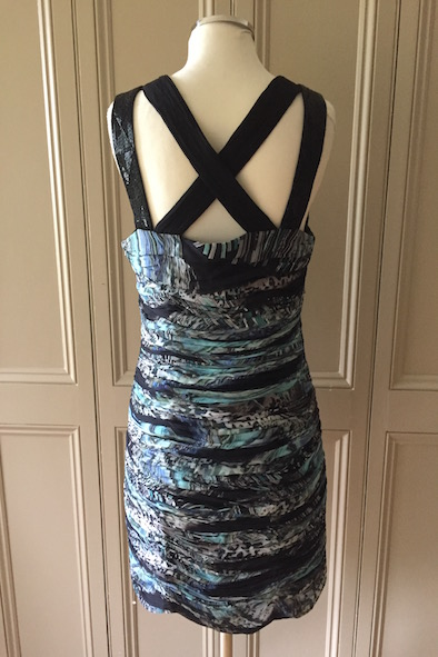 Matthew Williamson silk rushed dress with embellished straps