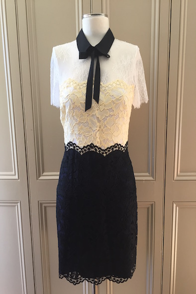Sandro multicoloured lace dress with collar
