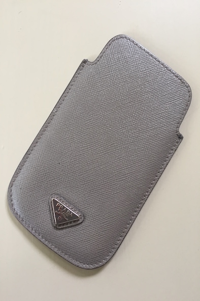 Prada grey leather iPhone 4 case