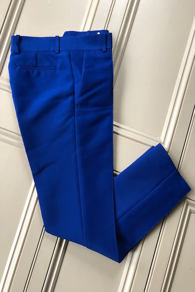 Celine bright blue cigarette trousers