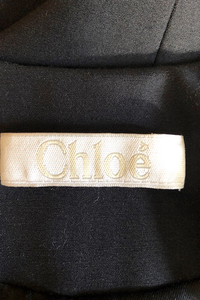Chloe midnight-blue evening jacket with bow