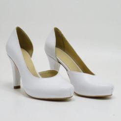 Pantofi albi de mireasa