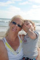 Sharon Joyce Burns with son Donnelly Keaton Burns.illegal adoption Riverside County.CA