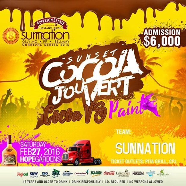 Sunnantion Jamaica Carnival Series 2016 - Sunset Cocoa Jouvert