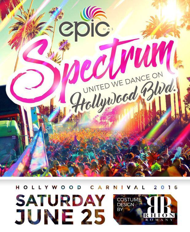Epic Mas Presents SPECTRUM for 2016 Hollywood Carnival