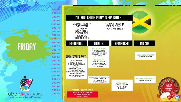 Ubersoca Cruise 2016 - Thursday Line Up
