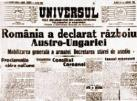 Romania declares war to Austro-Hungary empire