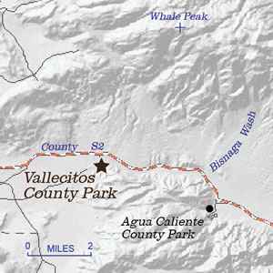 Location map for Vallecitos County Park