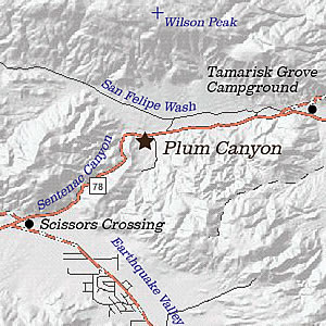 Plum Canyon area map