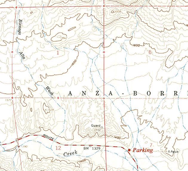 USGS Bisnaga Wash area