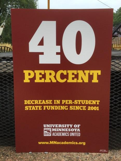 Decreasing state funding