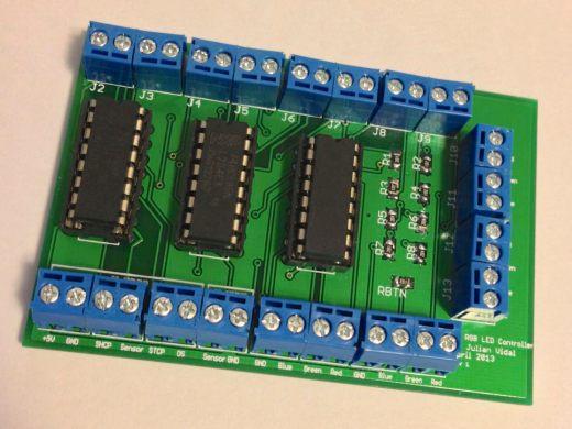 8 RGB LED Controller PCB