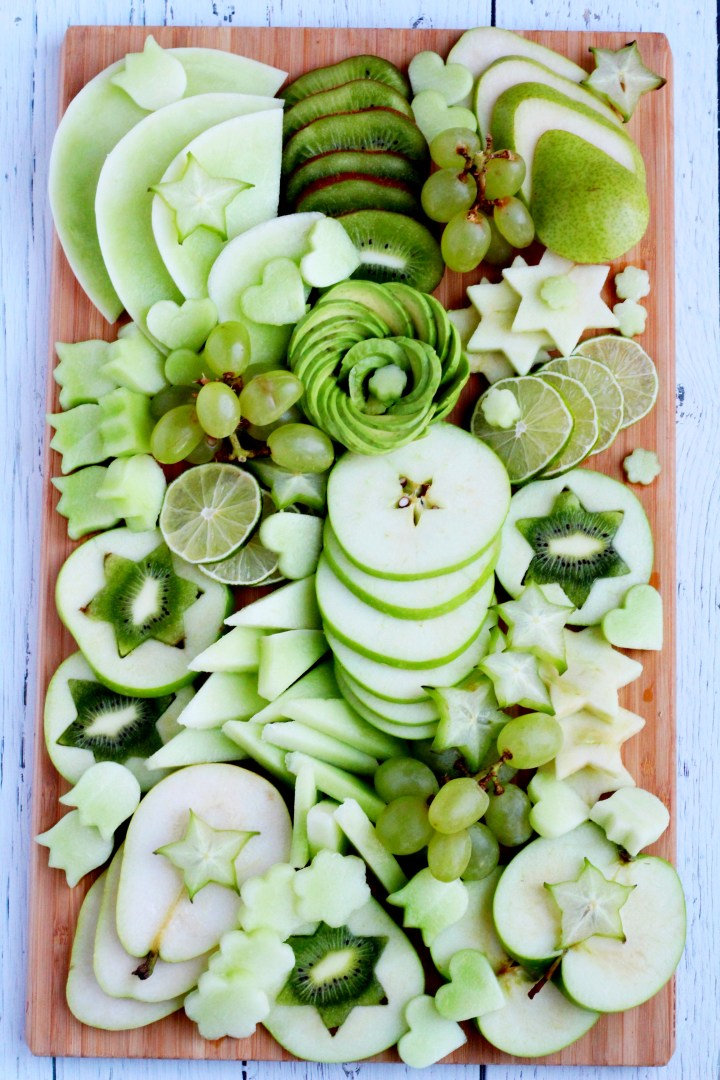green fruit platter