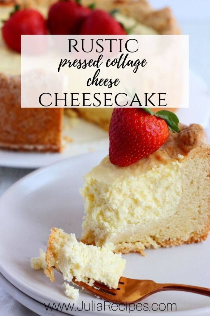 rustic pressed cottage cheesecake