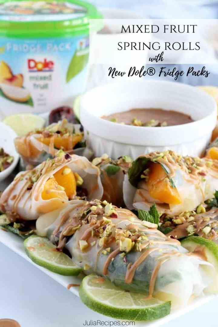 mixed fruit spring rolls