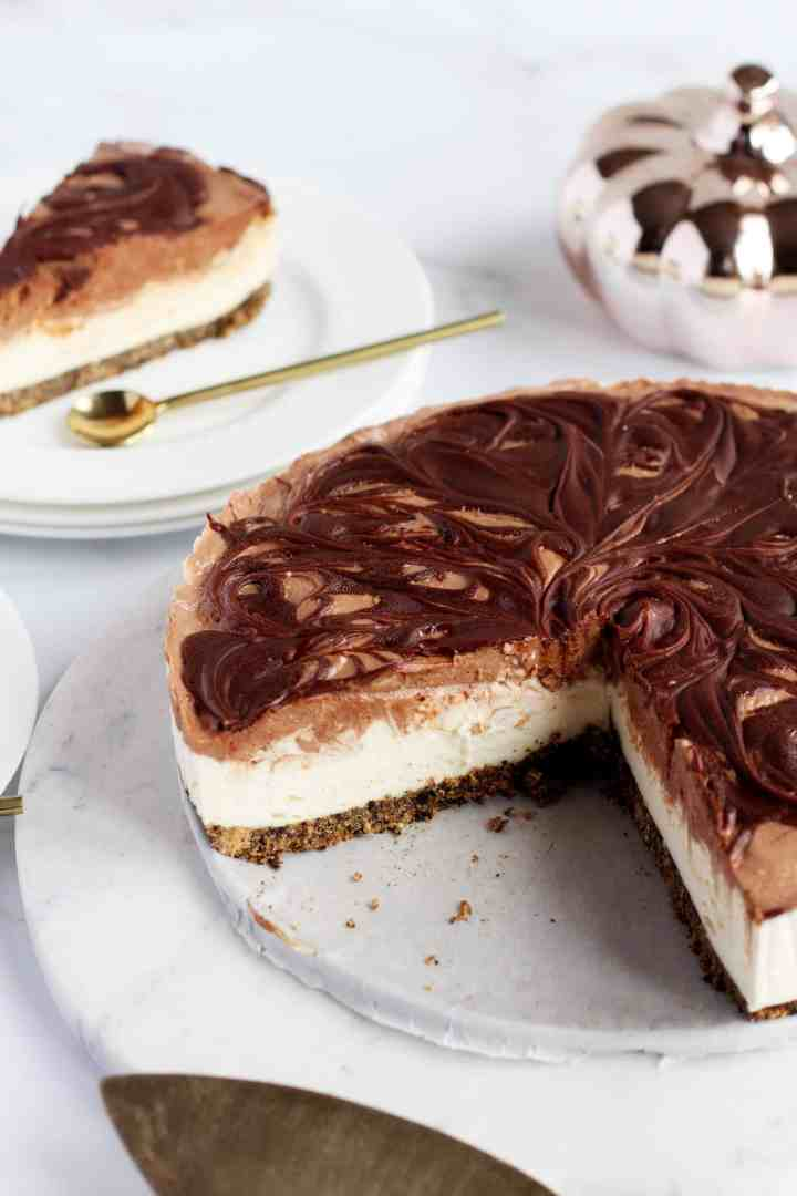 Nutella swirl Cheesecake