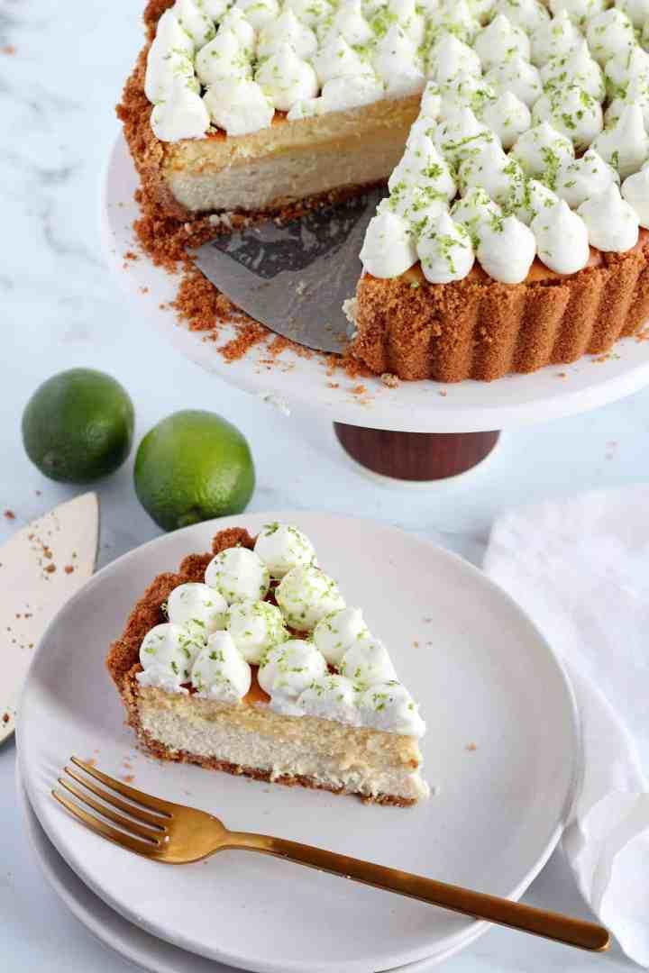keylime cheesecake tart