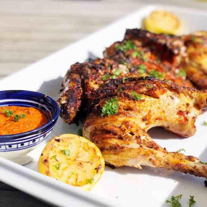 Chicken piri piri on plate