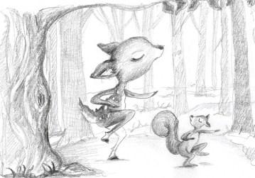 fawn-dancing-pencil
