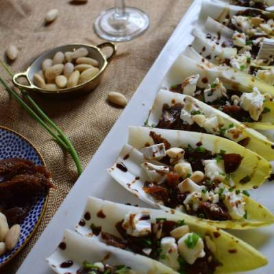 Fig & Goat Cheese Endive Cups