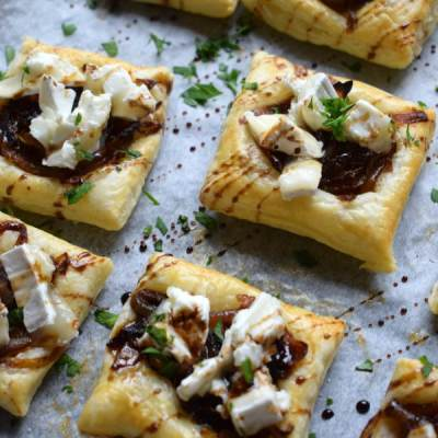 Caramelized Onion & Goat Cheese Tarts