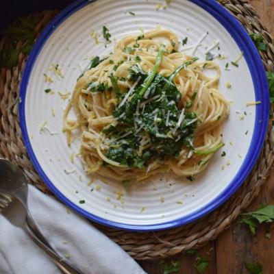 Fresh Spinach & Zesty Lemon Spaghetti