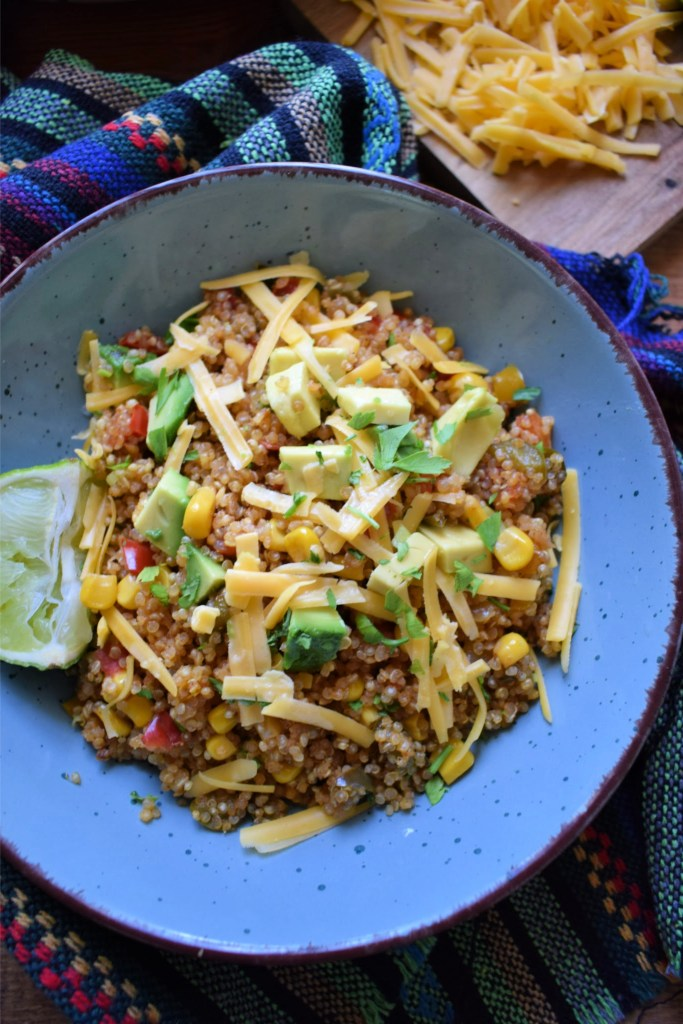 southwestern style quinoa in a bowl