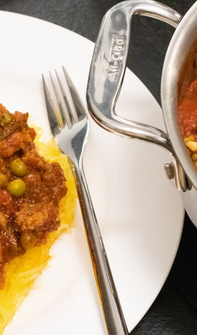 BEEF BOLOGNESE WITH SPAGHETTI SQUASH