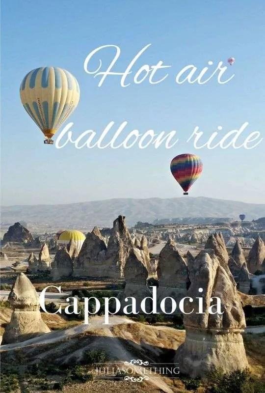 Hot air balloon in Cappadocia