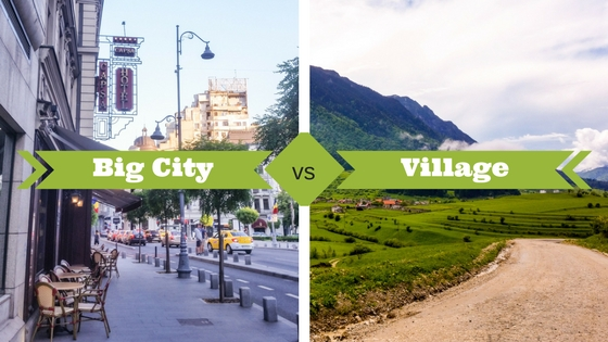 Big City vs village