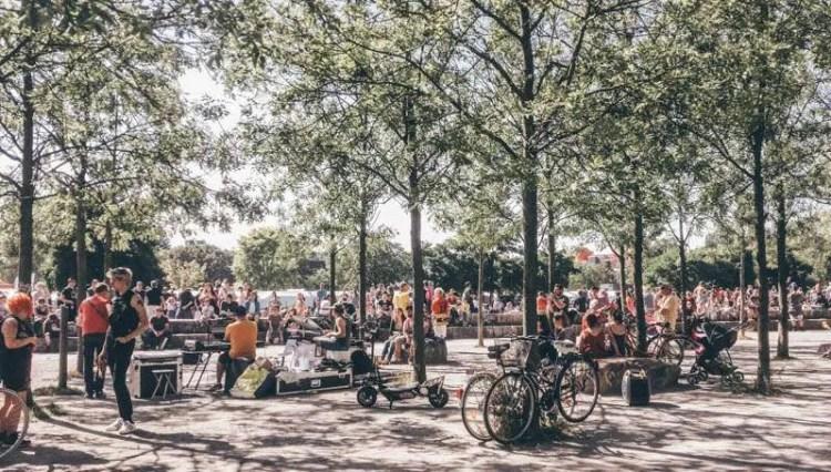 Mauerpark Berlin on a Sunday