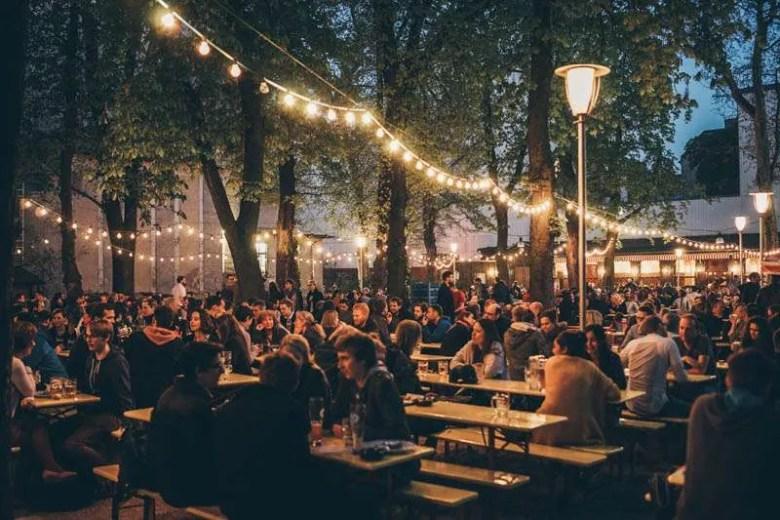 Prater Beer Garden Prenzlauer berg Berlin