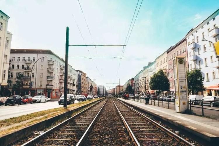 Prenzlauer berg Berlin tram way