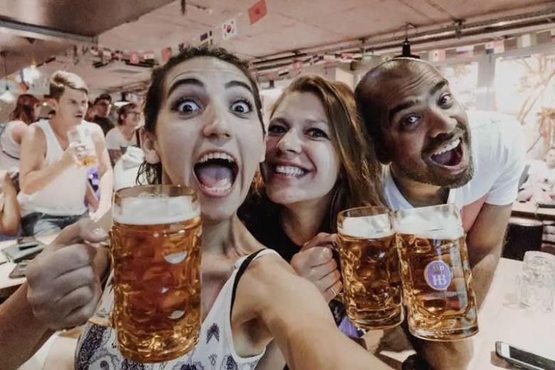 wombats city hostel Munich beer