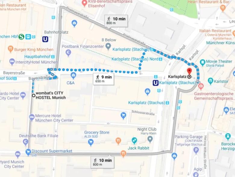 karlsplatz munich germany self guided walking tour