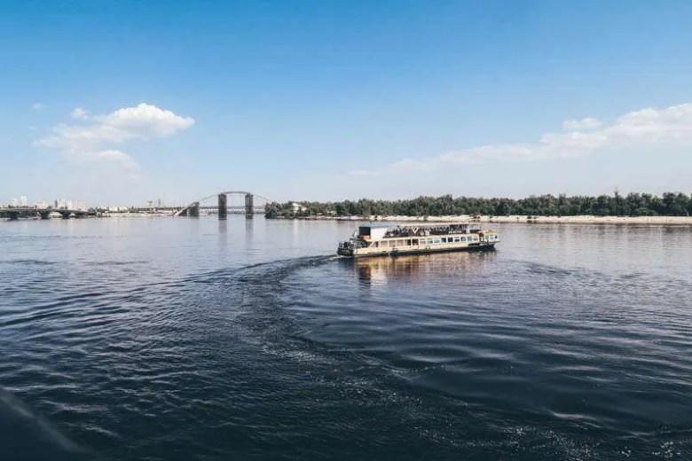 A boat ride on the Nipru river visit kiev ukraine