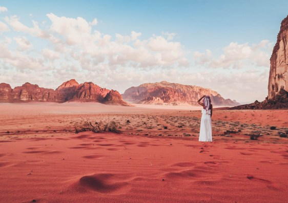 Spending a night in the Wadi Rum desert in Jordan traveling alone for the first time personal growth self development journey
