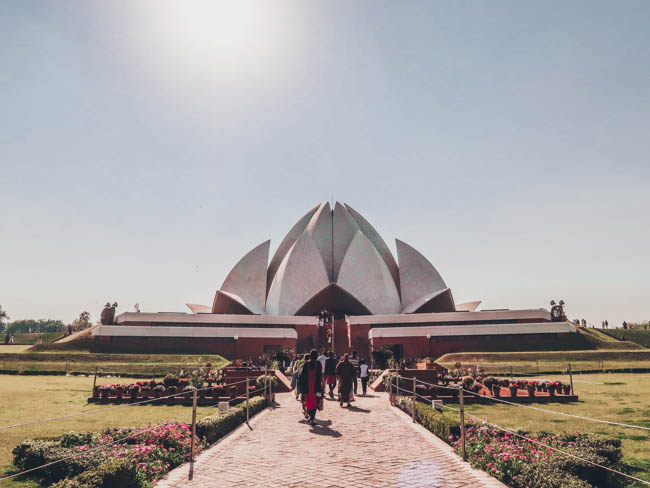 lotus temple first time in india what to do in delhi india