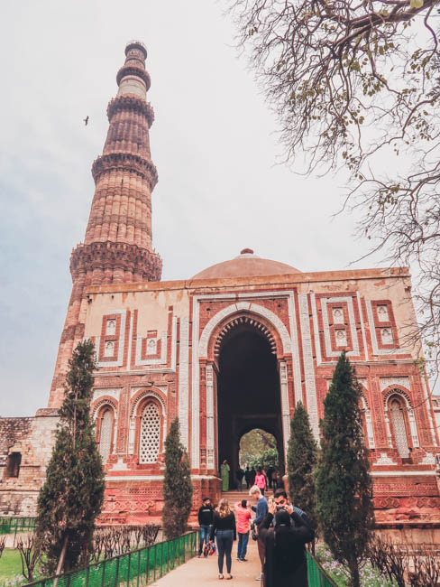 Qutub Minar  first time in india what to do in delhi india