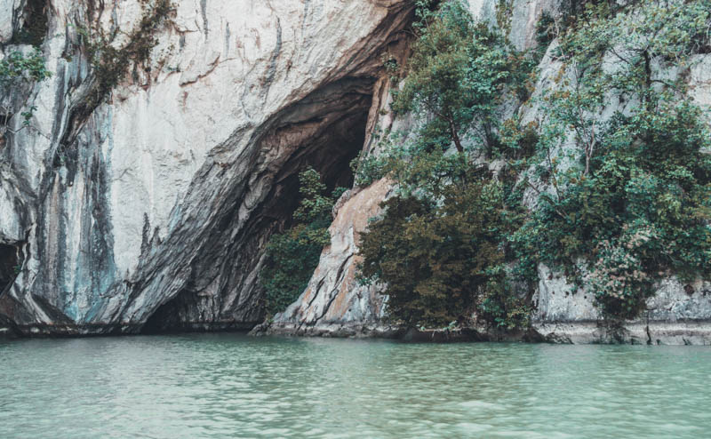 Ponicova cave places to see in romania cazanele dunarii Danube gorges Dobova motor boat tour
