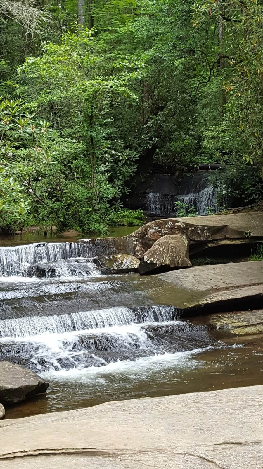 Small waterfall in Table Rock - South Carolina state parks